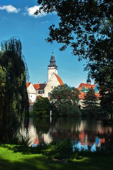 Free Park In Telc Town Czech Republic Royalty Free Stock Photo - 23523145