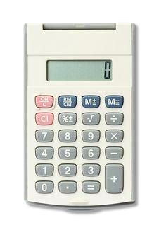 Free White Calculator Royalty Free Stock Image - 23523246