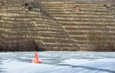 Free Vineyards And Frozen River Stock Images - 23529344