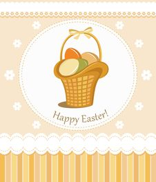 Free Happy Easter Greeting Card Royalty Free Stock Images - 23529839