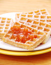 Free Freshly Baked Waffles Royalty Free Stock Photos - 23530628