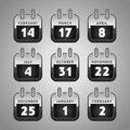 Free Set Web Calendar Icons Royalty Free Stock Image - 23533636