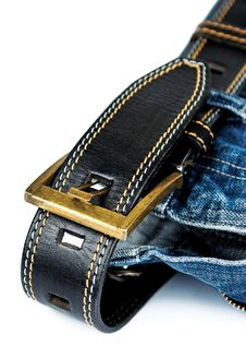 Jeans With Belt Royalty Free Stock Photo