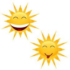 Free Two Cheerful Sun Stock Photos - 23530493