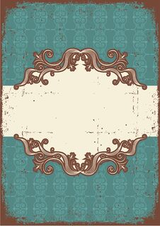 Free Abstract Vintage Frame With Vignettes For Text Stock Image - 23530511