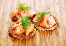 Free Appetizers With Salmon Royalty Free Stock Photos - 23530648