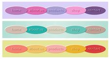 Set Of Colorful Buttons Stock Photo