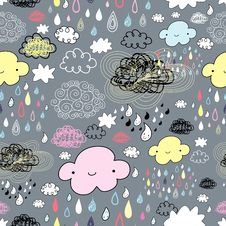 Free The Texture Of The Clouds And Rain Stock Images - 23532214