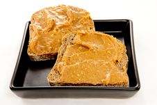 Free Slices Of Bread With Peanut Butter Royalty Free Stock Photos - 23534578