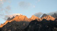 Free Sunset,Snow Mountain Stock Image - 23537091