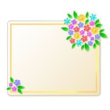Free Card With Flowers Royalty Free Stock Image - 23537366