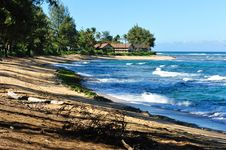 Free Kauai Hawaii Pacific Ocean Beach Scene, Stock Images - 23537914