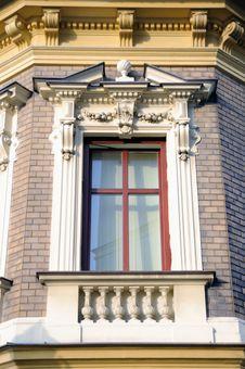 Window Decorated Historic Buildings Svitavy Stock Photography