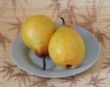 Free Still Life Two Pears Stock Photo - 23540170