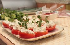 Free Stuffed Tomatoes Royalty Free Stock Image - 23540716