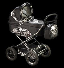Free Baby Carriage Royalty Free Stock Image - 23543706