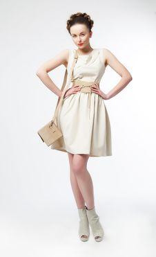 Free Luxurious Supermodel Girl Posing On Podium Stock Photo - 23546770