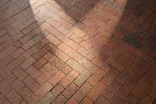 Free Red Brick Pavement Background Royalty Free Stock Images - 23546879