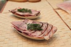 Sliced Ham Royalty Free Stock Photos
