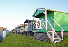 Free Row Of Beach Huts Stock Images - 23547824