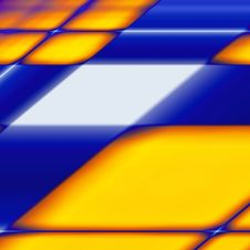 Abstract Blue Yellow Grid Background