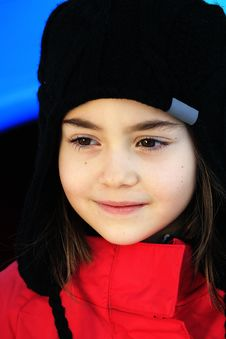 Free Girl In Winter Stock Image - 23550991