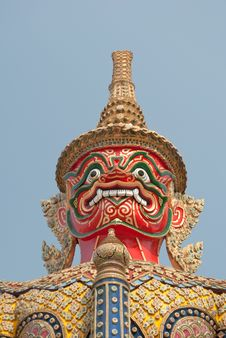 Free Red Giant S Face In Wat Pra Keaw Stock Photos - 23551203