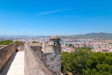 Free The Fortress In Malaga. Stock Images - 23551304