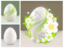 Free Eggs With Flowers Stock Photos - 23551703