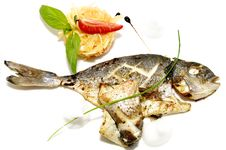Free Baked Fish With Vegetables Royalty Free Stock Photography - 23552247