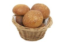 Free Buns With Sesame Seeds Royalty Free Stock Photos - 23552278