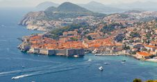 Free Aerial View On Old Part Of Dubrovnik - Croatia. Royalty Free Stock Image - 23555276