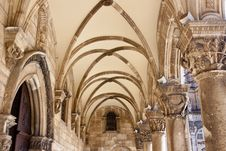 Free Pattern Ceiling Of Old Exterior Church - Dubrovnik Stock Photo - 23555380