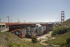 Free Repair Work At Golden Gate Bridge Stock Image - 23556101