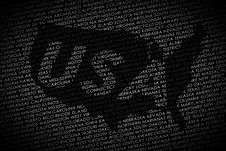 Free USA Map From Text Royalty Free Stock Image - 23556716