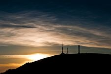 Relay Station Silhouette Stock Photography