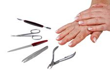 Manicure Set & Women Hands