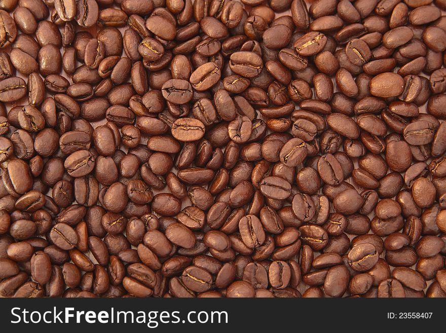 Roast beans of coffee