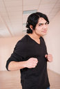 Free Fighter Young Man In Training Hall Royalty Free Stock Photo - 23560655
