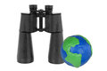 Free Binoculars And Globe Stock Image - 23567451