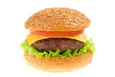 Free Cheeseburger Isolated Royalty Free Stock Photos - 23560678
