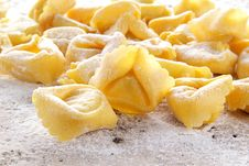Free Fresh Tortellini Handmade Whit Egg Stock Images - 23561034