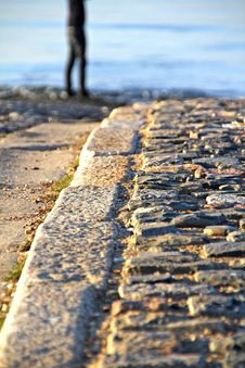 Free Tranquil Path To The Sea Royalty Free Stock Photo - 23564335