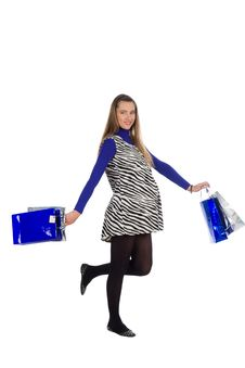 Free Lovely Pregnant Woman On Shopping 2 Stock Images - 23564504