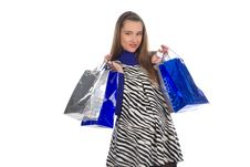 Free Lovely Pregnant Woman On Shopping 4 Stock Photos - 23564523
