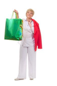 Free Portrait Of A Smiling Woman With Shopping Bags Stock Photo - 23567260