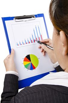 Free Look At Business Chart Royalty Free Stock Photo - 23567825