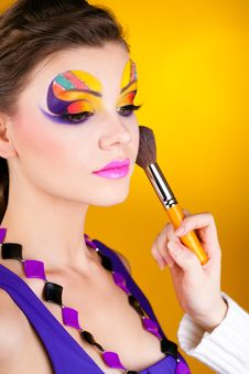Free Close-up Portrait Of Sexy Woman With Make-up Royalty Free Stock Photos - 23569148