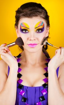 Free Close-up Portrait Of Sexy Woman With Make-up Stock Photo - 23569170