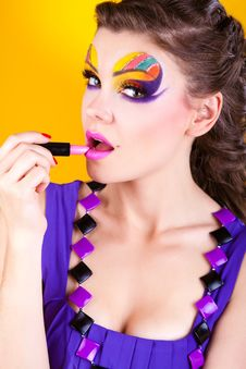 Free Close-up Portrait Of Sexy Woman With Make-up Royalty Free Stock Photo - 23569235